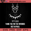 1977-2020 Thank You For The Memories Rest In Peace SVG, Black Panther SVG, Chadwick Boseman SVG, Cricut Digital Download, Instant Download