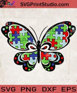 Butterfly Autism SVG, Autism Puzzle SVG, Autism Awareness SVG, Autism Mom SVG