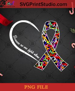 Because No One Fights Alone PNG, Christmas PNG, Noel PNG, Merry Christmas PNG, Cancer PNG, Awareness PNG Digital Download