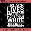 Black Lives Matter More Than White Feelings Check Your Privilege SVG, Skin Color SVG, George Floyd SVG