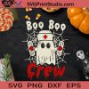 Boo Boo Crew SVG, Halloween SVG, Boo SVG, Nurse SVG, Cricut Digital Download, Instant Download