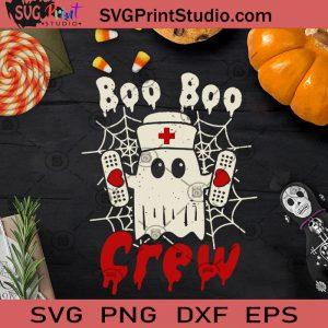 Boo Boo Crew SVG, Halloween SVG, Boo SVG, Nurse SVG, Cricut Digital Download, Instant Download