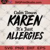 Calm Down Karen It's Just Allergies SVG, Funny Quote SVG, Holiday SVG