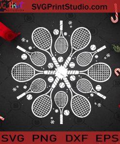Christmas Tennis Snowflake SVG, Christmas SVG, Noel SVG, Merry Christmas SVG, Tennis SVG, Snowflake SVG, Sport SVG, Snow SVG Cricut Digital Download, Instant Download