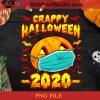 Crappy Halloween 2020 PNG, Halloween PNG, Crappy PNG, Facemask PNG, Covid 19 PNG, Pumpkin PNG, Pandemic PNG Digital Download