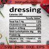 Dressing SVG, Christmas SVG, Dressing SVG, Element SVG, Calories SVG Cricut Digital Download, Instant Download