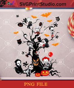 Halloween Tree Movies Horror PNG, Jason Voorhees PNG, Halloween PNG, Pennywise PNG, Michael Myers PNG, Pinhead PNG, Ghostface PNG Digital Download