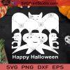 Happy Halloween SVG, Halloween SVG, Bat SVG, Ghost SVG Cricut Digital Download, Instant Download