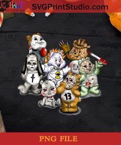 Horror Movies Bear PNG, Halloween PNG, Jason Voorhees PNG, Michael Myers PNG, Leatherface PNG, Freddy Krueger PNG, Valak PNG, Pennywise PNG, Horror Movie PNG Digital Download