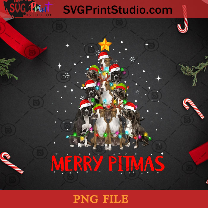 Merry Pitmas Pitbull Dog Ugly Christmas Sweater Tree Dogs PNG, Noel PNG, Merry Christmas PNG, Christmas PNG, Pitbull PNG, Santa Hat PNG, Dog PNG, Christmas Tree PNG Digital Download