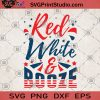 Red White And Booze SVG, Fourth Of July SVG, 4th Of July Tee SVG, Funny 4th Of July SVG, Funny 4th Tee SVG, Patriotic SVG, Stars And Bars SVG