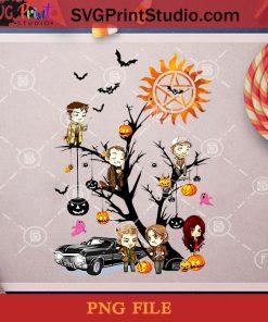 Supernatural Tree PNG, Tree PNG, Halloween PNG, Car PNG, Pumpkin PNG Digital Download