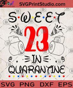 Sweet 23 in quarantine SVG, Quarantine 2020 SVG, Covid 19 SVG, Birthday SVG, Sweet 23 SVG, Coronavirus SVG, Toilet Paper SVG