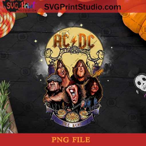 The AC DC PNG, Happy Halloween PNG, Halloween PNG, Heavy Metal PNG, Music PNG, Digital Download