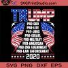 Trump Pro God Pro Life Pro Jobs Pro Israel SVG, Trump SVG, Donald Trump SVG, America SVG, Cricut Digital Download, Instant Download