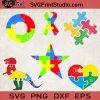 Autism Bundle SVG, Star Autism SVG, Autism Awareness SVG, Autism Mom SVG