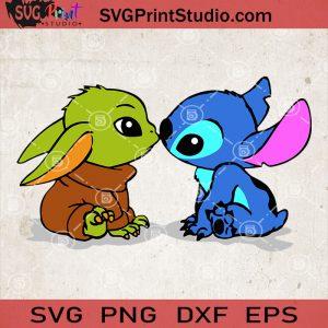 Baby Stitch And Baby Yoda SVG, Baby Sticth SVG, Baby Yoda SVG