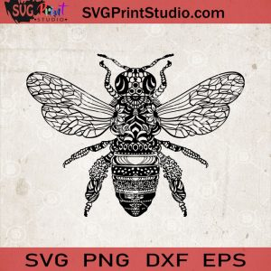 Bee Mandala Svg, Bee Svg Files, Bee Decal, Bee Shirt Designs
