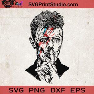 David Bowie svg, Silhouette David Bowie svg, Musician svg, Rock svg, Actor svg