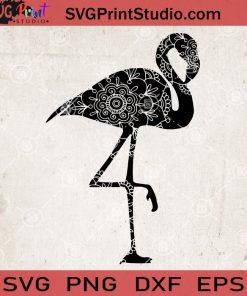 Flamingo Animals Mandala SVG, Flamingo Zentangle SVG, Flamingo Vector