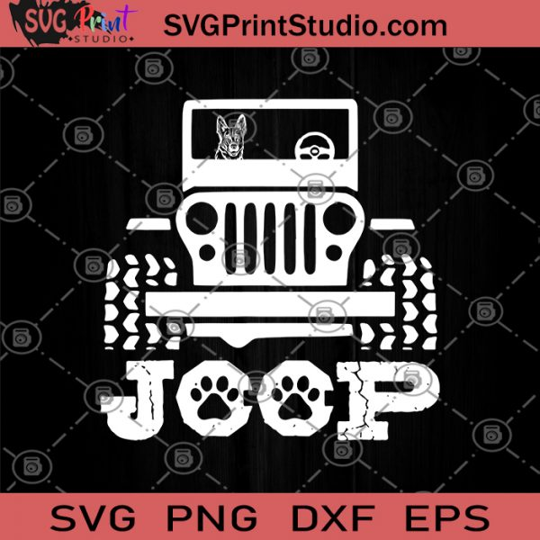 German Shepherd Riding On Jeep SVG, Dog and Pet SVG, Love My Shepherd SVG, Herdsman SVG