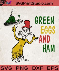 Dr Seuss Green Eggs And Ham SVG, Dr Seuss Vector, Cut File For Silhouette