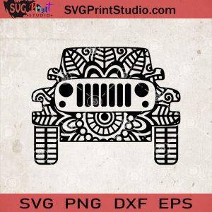 Jeep Mandala SVG, Jeep Zentangle Mandala SVG, Jeep Club, Jeep Lover