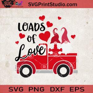 Load Of Love Valentine SVG, Gnome Valentine Truck SVG, Couple Gnome SVG