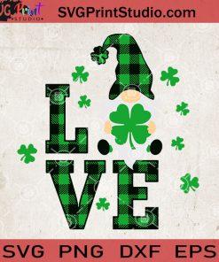 St Patricks Day Gnomes Love Svg, Gnomes Svg, Gnome Irish Day Svg