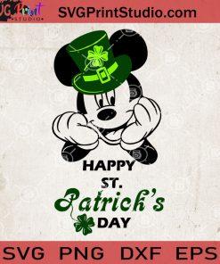 Mickey Happy St.Patrick's Day SVG, Disney Irish Day SVG, Mickey Clover SVG