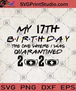 My 17th Birthday The One Where I Was Quarantined 2020 SVG, Coronavirus SVG, Quarantined 2020 SVG, Birthday 2020 SVG
