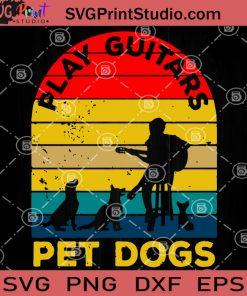 PLay Guitars Pet Dogs SVG, Guitar Player SVG, Dogs Lover, Guitar Pet SVG