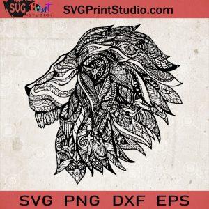 Lion Mandala SVG, Tiger Mandala SVG, Zentangle Lion SVG, Animals Mandala SVG