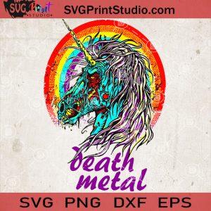 Death Metal Unicorn SVG, Unicorn Zombie SVG, Unicorn Lover