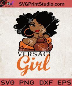 Versace Girl SVG, Versace Fashion SVG, Black Woman Versace SVG, Afro Queen SVG