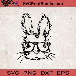Rabbit Face SVG, Rabbit SVG, Bunny SVG, Cute SVG, Eggs SVG EPS DXF PNG Cricut File Instant Download