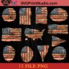 12 Vintage American Flag PNG, 4th Of July PNG, Independence Day PNG Instant Download