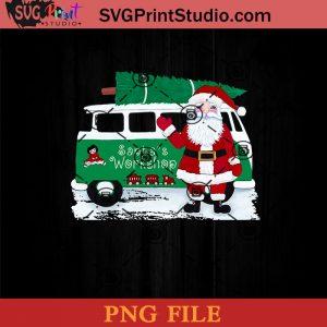 Santa's Workshop PNG, Santa Claus PNG, Merry Christmas PNG, Christmas PNG Instant Download