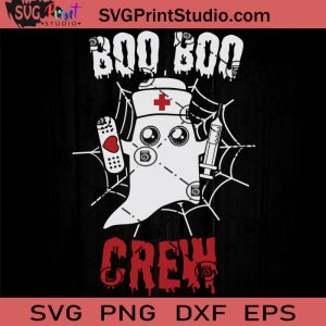 Boo Boo Crew Halloween Funny SVG, Boo Crew SVG, Happy Halloween SVG EPS DXF PNG Cricut File Instant Download