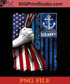 US Navy Veteran American Flag PNG, Veteran PNG, US Navy PNG Instant Download