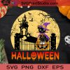 Halloween Cat SVG, Halloween Witch SVG, Happy Halloween SVG EPS DXF PNG Cricut File Instant Download