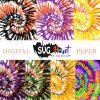 Halloween Tie Dye Digital Papers Download – Instant Download