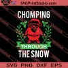 Chomping Through The Snow SVG PNG EPS DXF Silhouette Cut Files