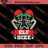 Elf Size Christmas SVG PNG EPS DXF Silhouette Cut Files