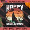 Happy Howlaween Dog Lovers SVG PNG EPS DXF Silhouette Cut Files