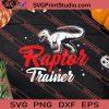 Raptor Trainer Halloween Velociraptor SVG PNG EPS DXF Silhouette Cut Files