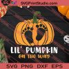 Pregnancy Lil Pumpkin On The Way SVG PNG EPS DXF Silhouette Cut Files
