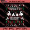 Merry And Dwight Christmas SVG PNG EPS DXF Silhouette Cut Files