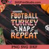 Football Turkey Nap Thanksgiving SVG PNG EPS DXF Silhouette Cut Files