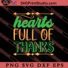 Hearts Full Of Thanks Thanksgiving SVG PNG EPS DXF Silhouette Cut Files